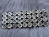 White Mother of Pearl Buttons circa 1900 - 1920 (SOLD)